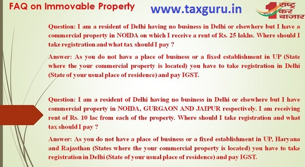 FAQ on Immovable Property