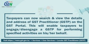 Locate GST Practitioners on GST Portal