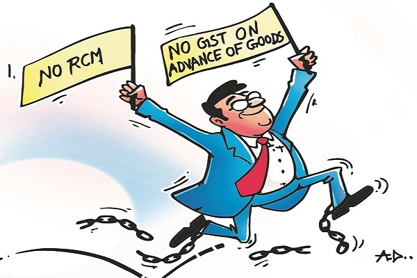 No GST on Advances received for Goods