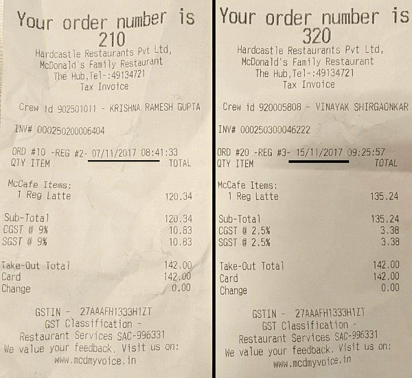 Resturant Bill not giving benefit to Customer of GST Reduction