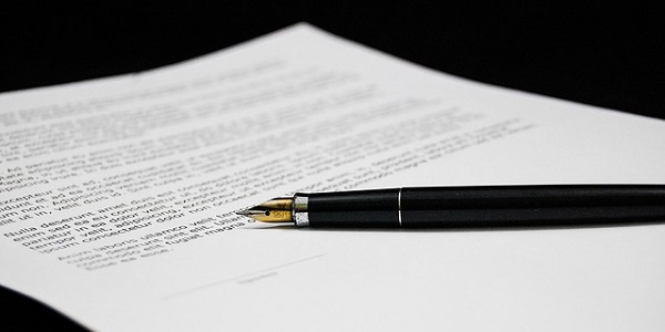 document agreement documents sign business paper