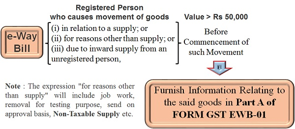 E- Way Bill- Registered person who cause movement of Goods