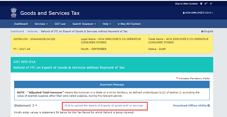 Refund of ITC on Account of Exports without Payment of Tax Image 19