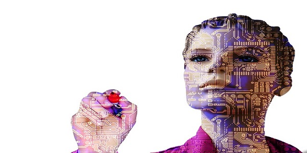 robot artificial intelligence woman forward