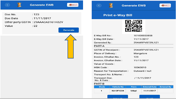 E-Way Bill Generate Form