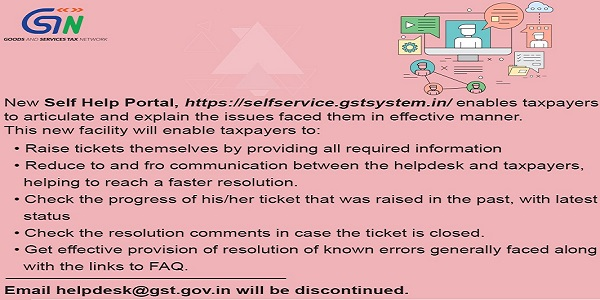 GSTN Launches Self Help Portal