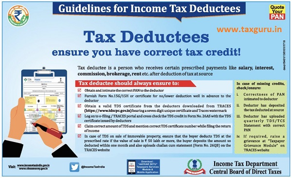 Guidelines for Income Tax Deductees