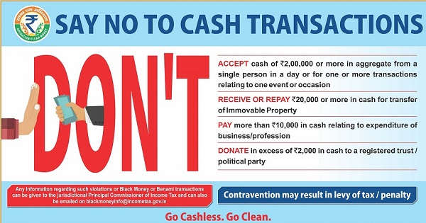 Say no to Cash Transactions