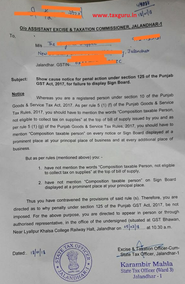 Department Started Sending Gst Notices For Failure To Display Sign Board