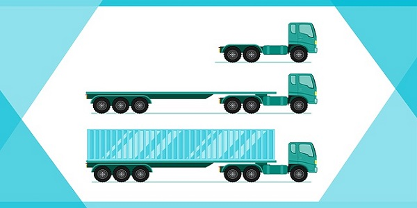 long cargo truck vehicle car cargo transport