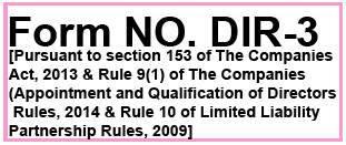 Form No. DIR 3