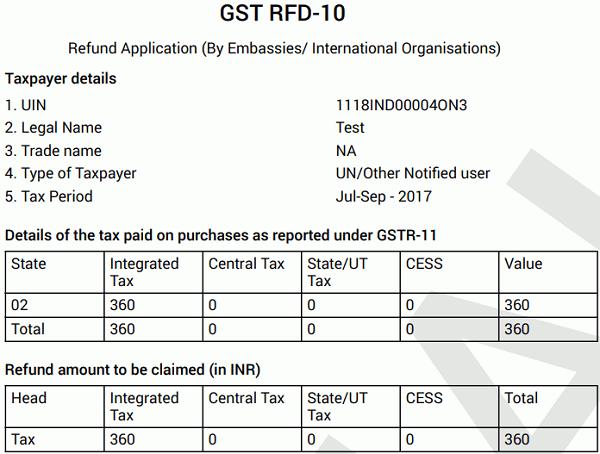 GST RFD-10