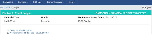 ITC Balance