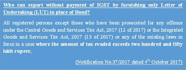 Who can export without payment of IGST