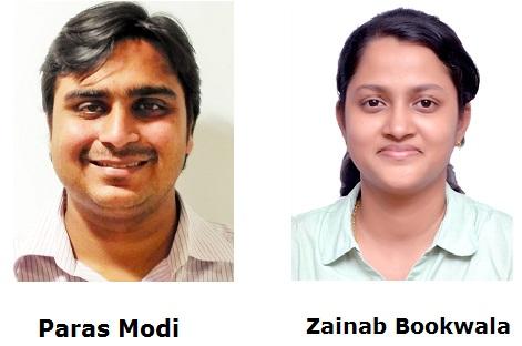 Zainab Bookwala and Paras Modi