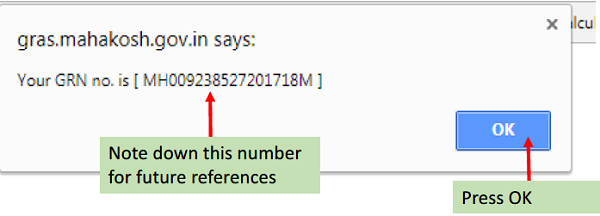 General Reference Number (GRN)