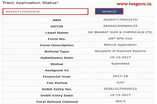 How to Track GST Refund Status Pre-Login 2