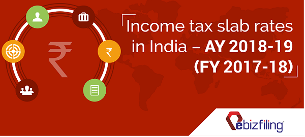 Income tax slab rates in India – AY 2018-19 (FY 2017-18)
