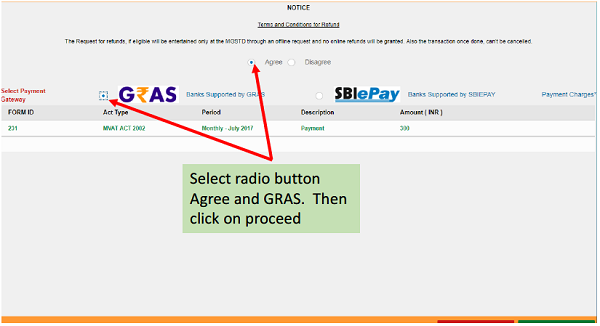 Select payment gateway