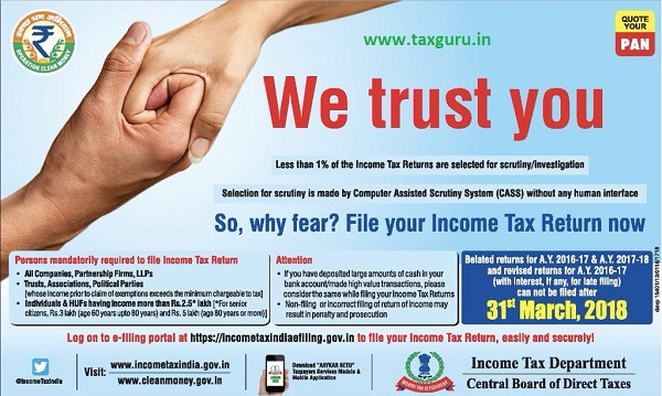 So, why fear File your Income Tax Return now