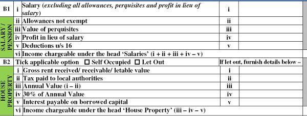 ITR 1 Sahaj Salary house property Income