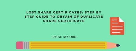 Step by Step Guide to Obtain Duplicate Share Certificates