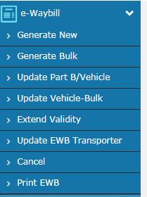 extend E-way bill Validity