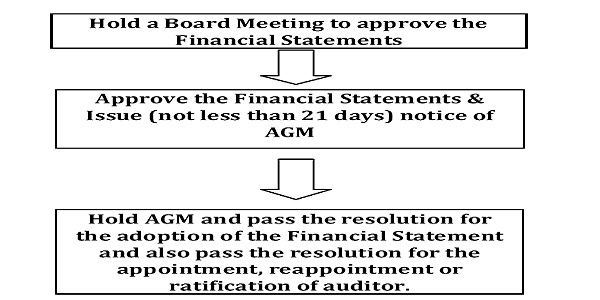 Adoption and Filing of Annual Accounts with ROC