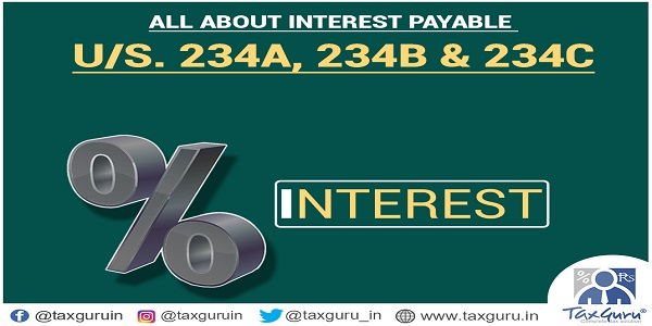 Interest Payable U/s  234A, 234B & 234C