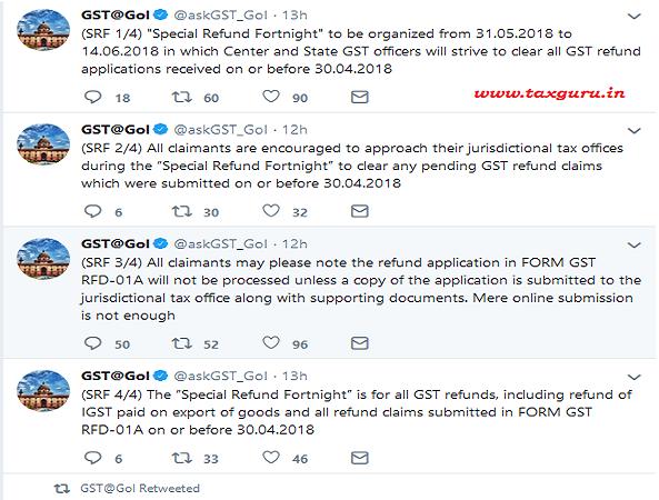 Special GST Refund Fortnight