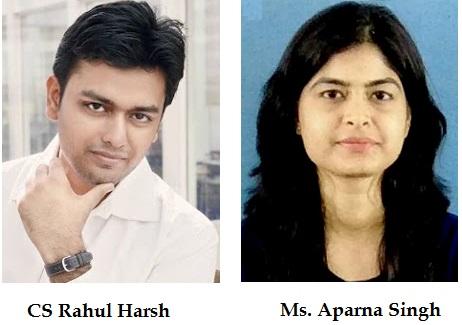 CS Rahul Harsh & Ms. Aparna Singh
