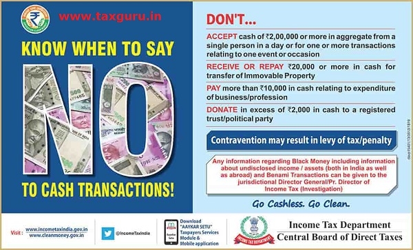 Know When to Say No To Cash Transaction
