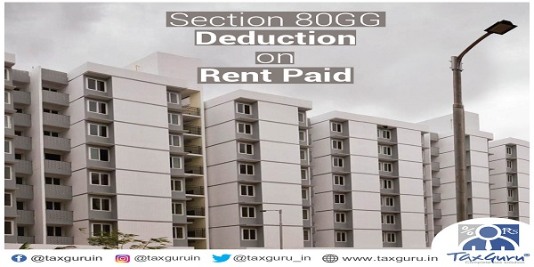 Section 80GG rent paid