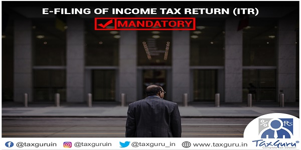 E Filing of Income tax Return (ITR)