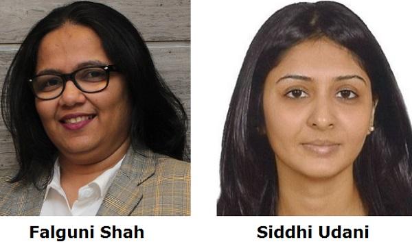 Falguni Shah and Siddhi Udani