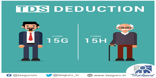 Form 15H Form 15G to Avoid TDS deduction