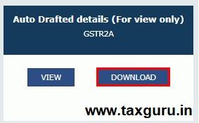 Form GSTR-2A inward Supplies Return Image 3