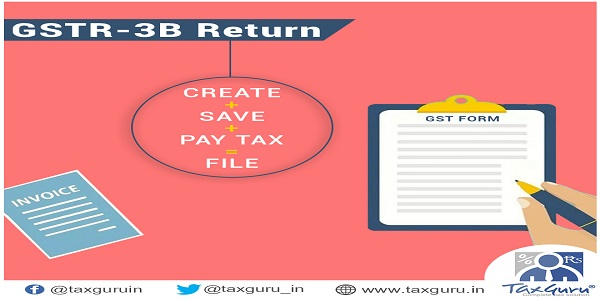 GSTR-3B return- How to create, save, pay taxes and file