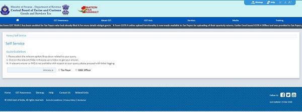 Web-help service CBIC