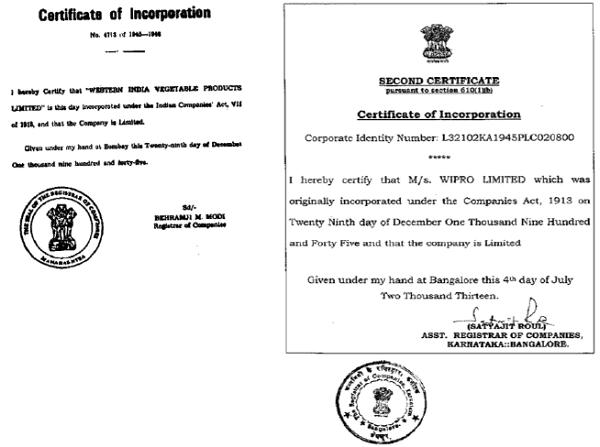 Certificate 1913 Registration (2) and Certificate 1913 Registration (1)