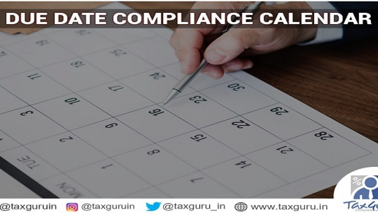 Due date Compliance Calendar for August 2019