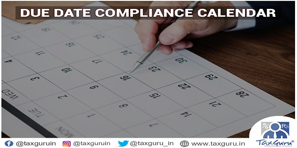 Due Date Compliance Calender