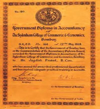 GDA Certificate