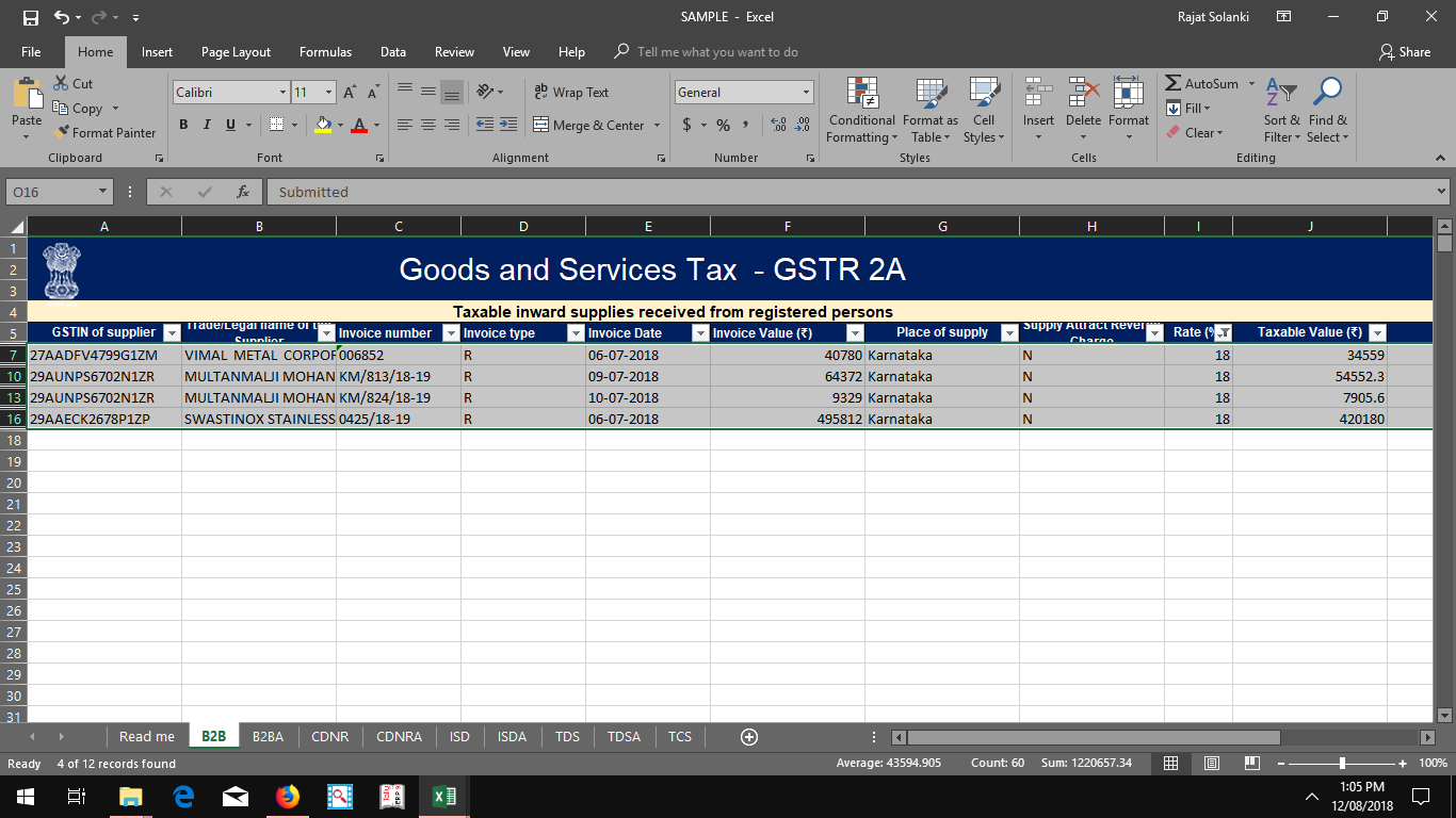 GSTR 2A To Excel For Reconciliation photo 4