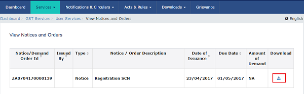 View Notices and Orders