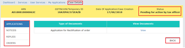 Application Case Details