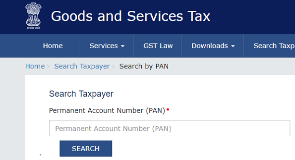 GST Person Search by PAN