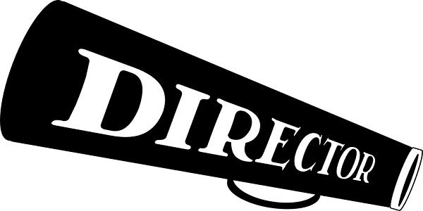 director megaphone movie shout motion picture