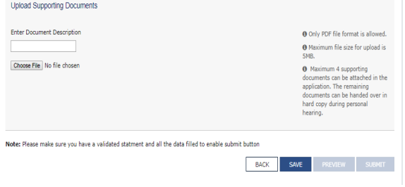 After successful uploading of documents, click on save button