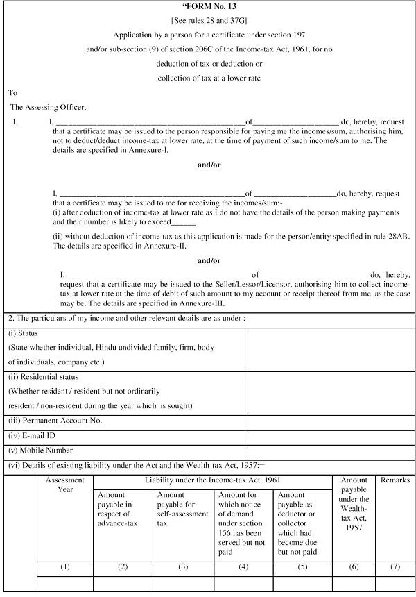 Form No. 13